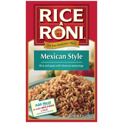 Rice-A-Roni Mexican Style Rice Mix 6.4 Oz Box