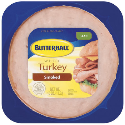 Butterball White Lean Smoked Turkey 16 Oz Pack