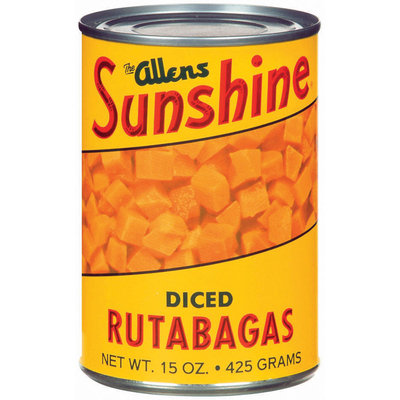 The Allens Sunshine Diced Rutabagas 15 Oz Can