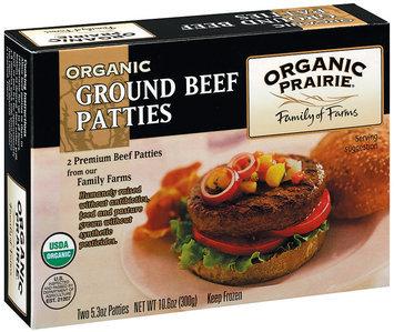 Organic Prairie Organic Frozen 2 Ct Ground Beef Patties 10.6 Oz Box