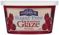Litehouse Strawberry Sugar Free Glaze 13.5 Oz Tub