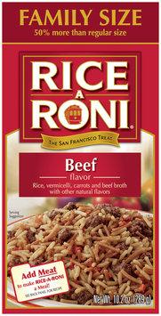 Rice-A-Roni Beef Family Size Rice Mix 10.2 Oz Box