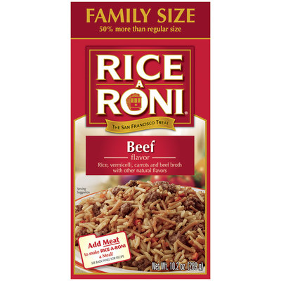 Rice-A-Roni Beef Family Size Rice Mix 10.2 Oz Box