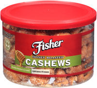 Fisher® Honey Roasted Cashews 8.25 oz. Jar
