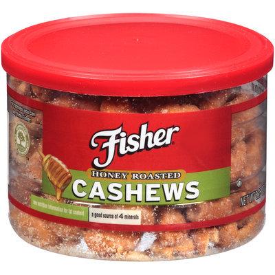 Fisher® Honey Roasted Cashews 8.25 oz. Jar