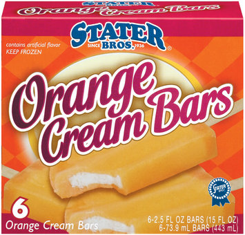 Stater Bros. Orange 6 Ct Cream Bars 15 Oz Box