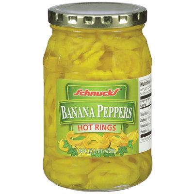 Schnucks® Banana Peppers Hot Rings 16 fl. oz.