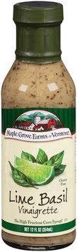 Maple Grove Farms of Vermont® Lime Basil Vinaigrette Dressing 12 fl. oz. Bottle