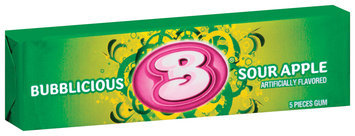 Bubblicious 5 Piece Packs Sour Apple Bubble Gum 5 Ct