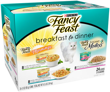 Purina Fancy Feast Breakfast to Dinner Collection Cat Food Variety Pack 24-3 oz. Cans
