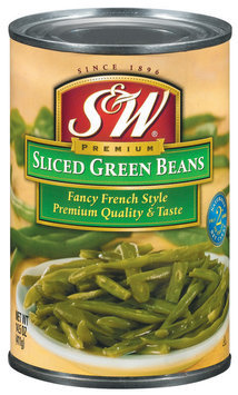 S&W® Sliced Fancy French Style Green Beans 14.5 oz. Can