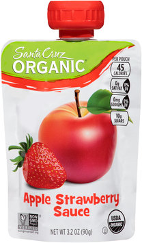 Santa Cruz Organics® Apple Strawberry Sauce 3.2 oz. Pouch