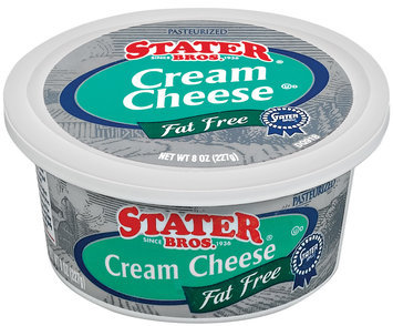Stater Bros. Fat Free Cream Cheese 8 Oz Plastic Container