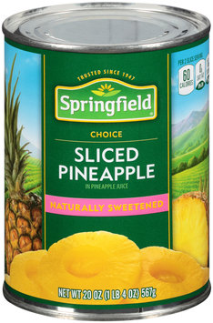 Springfield® Sliced Pineapple in Pineapple Juice 20 oz. Can