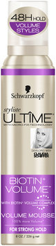 Schwarzkopf Styliste Ultime® Biotin+ Volume™ Volume Mousse 8 oz. Aerosol Can