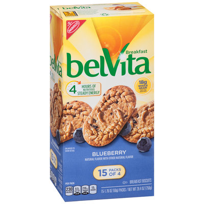 belVita Blueberry Breakfast Biscuits 15-4 ct Packs