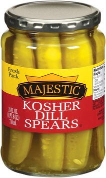Majestic Kosher Dill Spears Pickles 24 fl. oz.
