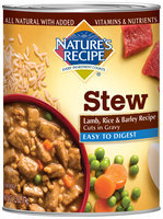 Nature's Recipe® Easy to Digest Lamb, Rice & Barley Recipe Cuts in Gravy Dog Food 13.2 oz. Can