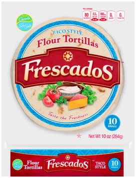 Frescados™ Taco Style Small Flour Tortillas 10 oz. Bag