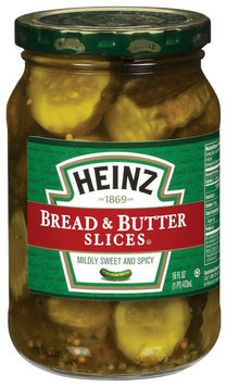 Heinz Bread & Butter Slices Pickles 16 Oz Jar
