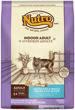 Nutro® Indoor Adult White Rice & Whole Brown Rice Recipe Cat Food 14 lb. Bag