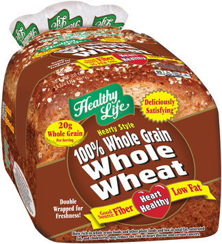 healthy life® hearty style 100% whole grain whole wheat bread