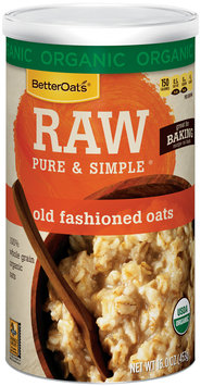 BetterOats® Raw Pure & Simple® Organic Old Fashioned Oats 16 oz. Canister