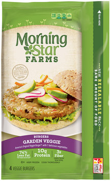 MorningStar Farms® Garden Veggie Burgers 9.5 oz. Box