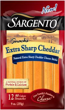 Sargento® Snacks Extra Sharp Cheddar Cheese Sticks 12 ct Bag