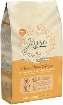 Muse by Purina Charmed With Chicken Natural Chicken, Egg & Pumpkin Recipe Cat Food 4 lb. Bag