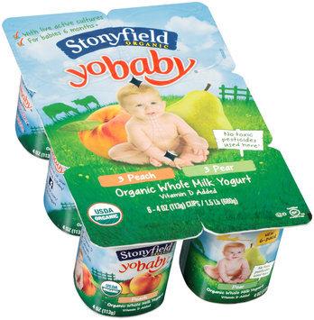 Stonyfield Organic™ YoBaby® Peach/Pear Yogurt Variety Pack 6-4 oz. Cups