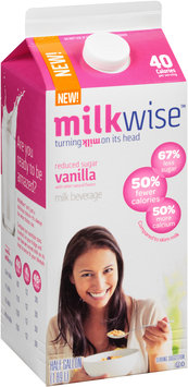 MilkWise™ Reduced Sugar Vanilla Milk Beverage 1/2 gal. Carton