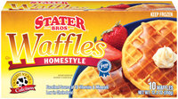 Stater Bros. Homestyle Waffles 10 Ct Box