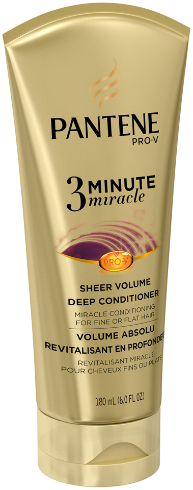 Pantene Sheer Volume 3 Minute Miracle Deep Conditioner 180mL