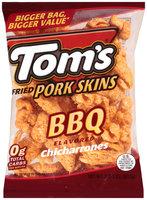 Tom's® BBQ Flavored Chicharrones Fried Pork Skins 2.375 oz. Bag