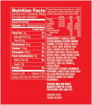 Dannon® Danimals® Crunchers™ Nonfat Yogurt Cookies 'N Cream 4 ct Sleeve