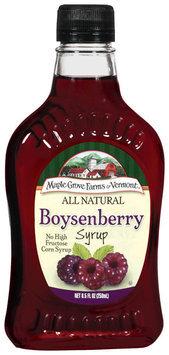 Maple Grove Farms Boysenberry Syrup 8.5 Oz Glass Bottle