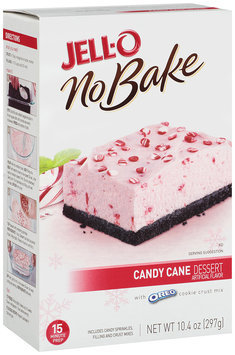 Jell-O No Bake Candy Cane Dessert Mix 10.4 oz. Box