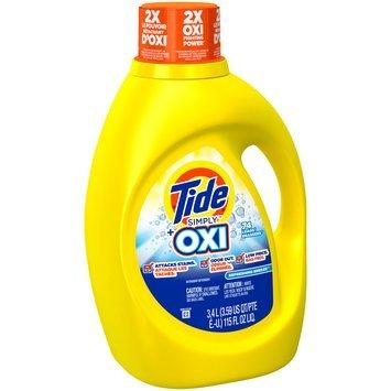 Tide Simply Plus Oxi Liquid Laundry Detergent, Refreshing Breeze Scent, 115 oz., 74 loads