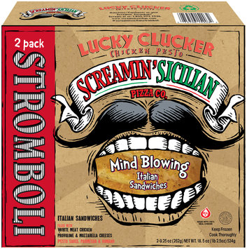 Screamin' Sicilian™ Pizza Co. Lucky Clucker Chicken Pesto Stromboli 2 ct Box