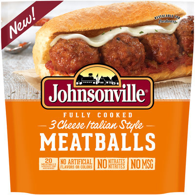 Johnsonville® Fully Cooked 3 Cheese Italian Style Meatballs 15 oz. Pouch