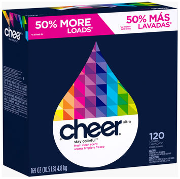 Cheer Ultra Fresh Clean Scent Powder Laundry Detergent 169 oz. Box