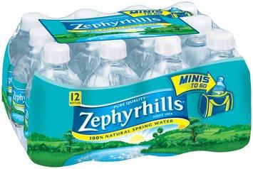 ZEPHYRHILLS Brand 100% Natural Spring Water, 8-ounce mini plastic bottles (Pack of 12)