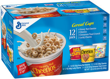 General Mills Honey Nut Cherrios/Cherrios/Cinnamon Toast Crunch/Lucky Charms Cereal Variety Pack 12 ct Box