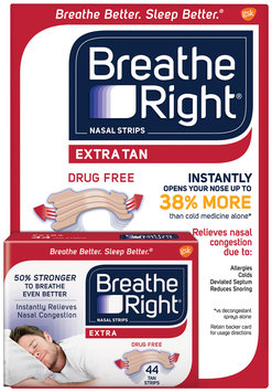 Breathe Right® Extra Tan Nasal Strips 44 ct. Pack