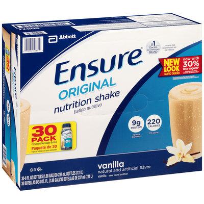 Ensure® Vanilla Original Nutrition Shake 30-8 fl. oz. Bottles