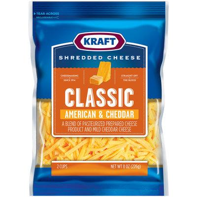 Kraft Classic American & Cheddar Shredded Cheese 8 oz. Bag