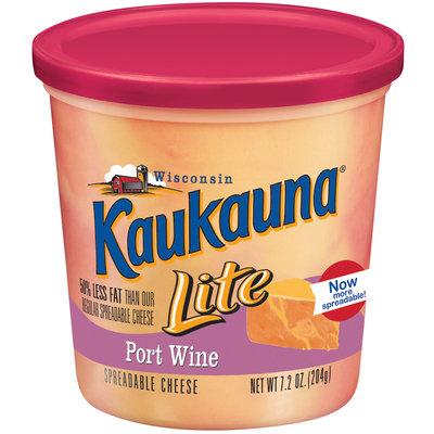 Kaukauna Lite Port Wine Spreadable Cheese 7.2 Oz Tub