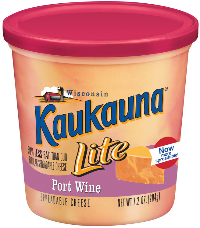 Kaukauna Lite Port Wine Spreadable Cheese