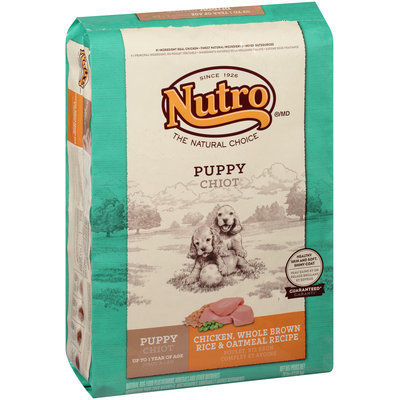 Nutro® Puppy Chicken, Whole Brown Rice & Oatmeal Recipe Dog Food 30 lb. Bag